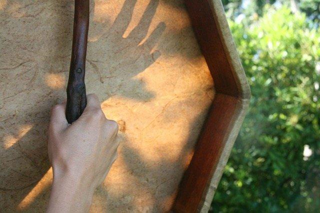 women's shamanic drum